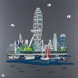 London Eye II by Dylan Izaak -  sized 32x32 inches. Available from Whitewall Galleries